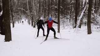 Беговые лыжи  Урок 5 Лыжная тренировка Отработка приемов конькового хода  Veryvery.ru