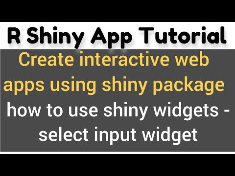 R Shiny app tutorial # 6 - how to use shiny widgets - selectInput