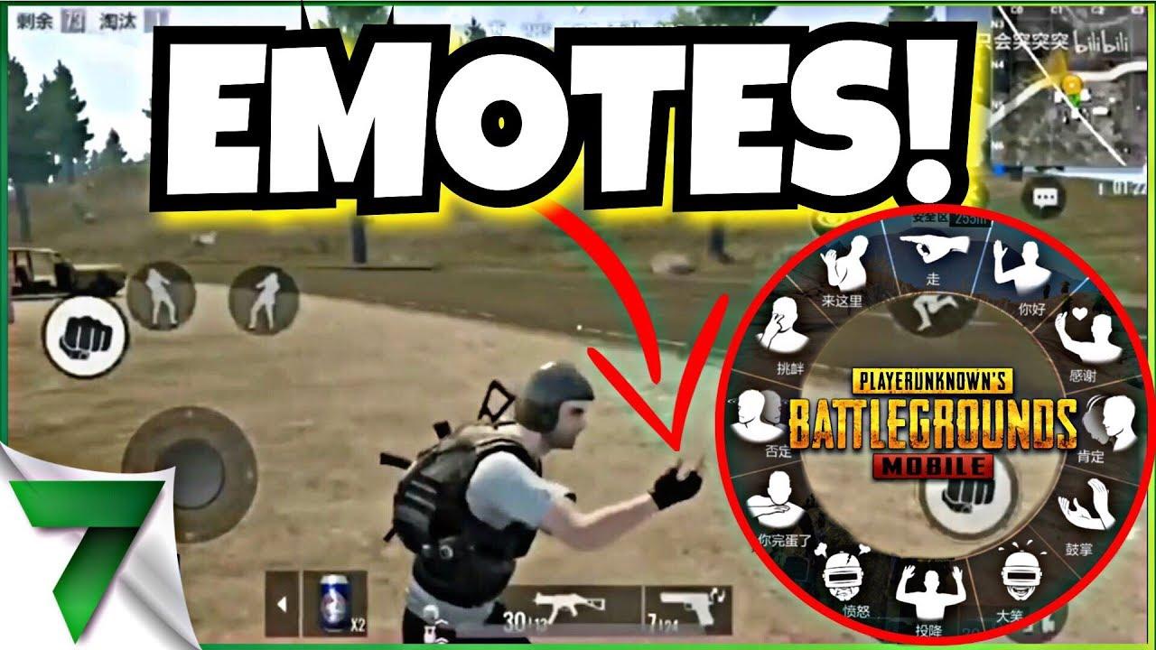EMOTES COMING TO PUBG MOBILE! VIDEO OF EMOTES!! | PUBG Mobile