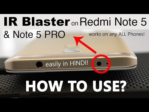 How to Use IR Blaster on Redmi Note 4 and Control TV, AC, etc.! Works on Any Phone with IR! [Hindi]
