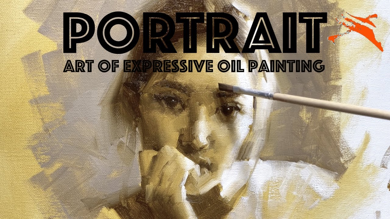 [Member only] Oil Painting Demo: Monochromatic Brown Portrait.