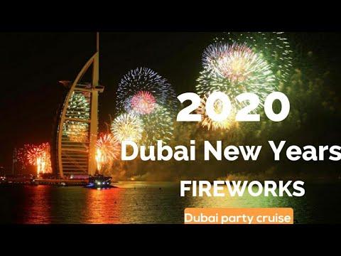DUBAI New Years Fireworks 2020, Fireworks Burj Al Arab New Years,  NYE Dubai Burj khalifa