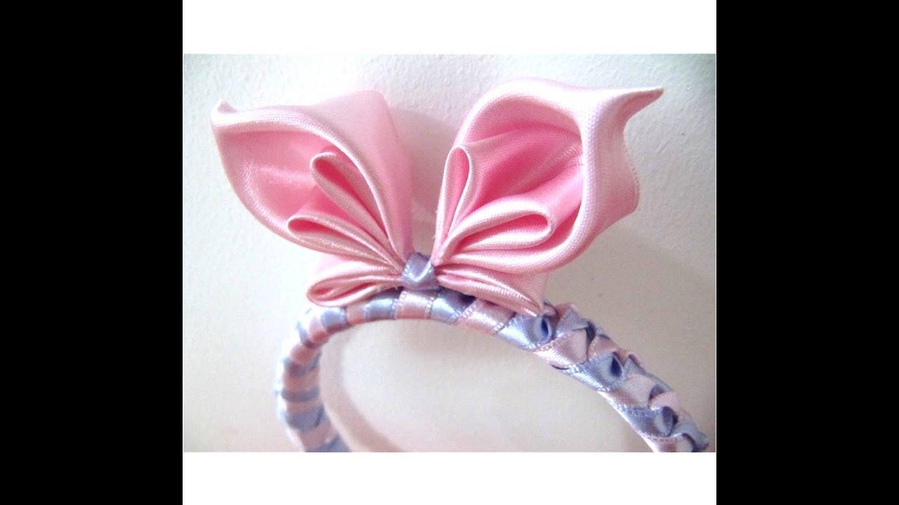 Mariposa diadema en cintas para el cabello butterfly bow - Material para hacer diademas ...