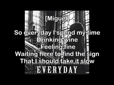 Everyday- A$AP Rocky ft. Rod Stewart, Miguel and Mark Ronson Lyrics