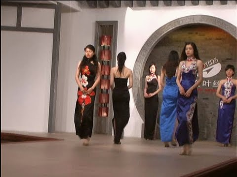 CHINESE SILK CLOTHES FACTORY AND FASHION SHOW.!