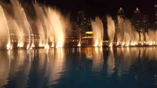 Dubai Fountain Show - Burj Khalifa - Whitney Houston