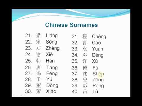 The Ten Most Common Chinese Surnames | HubPages