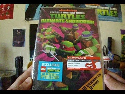 Unboxing TMNT (2012) 2-Disk DVD Set - Ultimate Showdown / Season 2 starts October 12th!