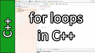 for loops - C++ Programming Tutorial #18 (PC / Mac 2015)
