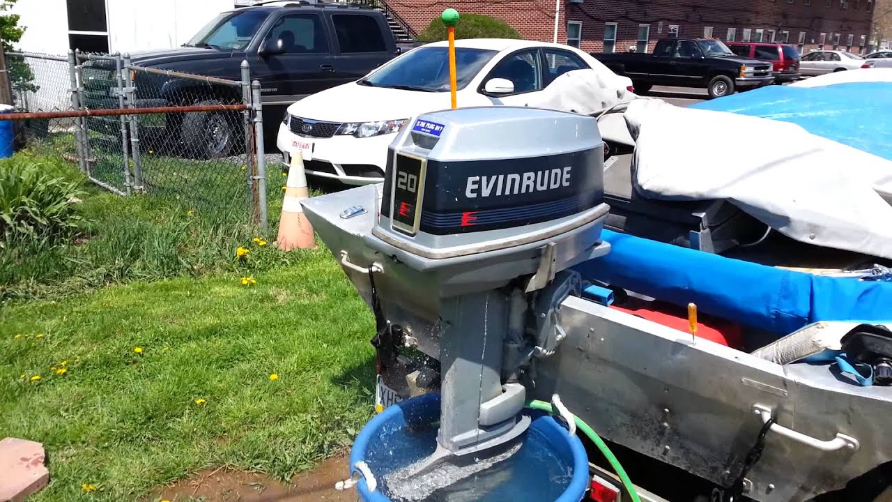 1988 Evinrude 20 Hp Cold Start After Tune Up Youtube