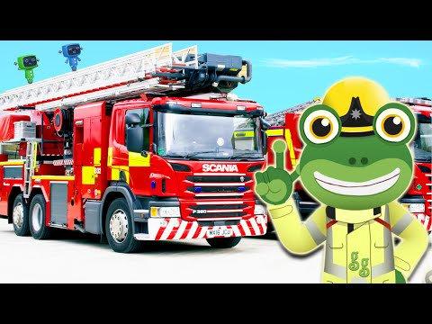 Gecko And The Fire Truck | Gecko's Real Vehicles | Trucks For Kids | Educational Videos For Toddlers