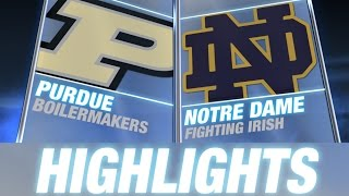 Purdue vs Notre Dame | 2014-15 ACC Men's Basketball Highlights
