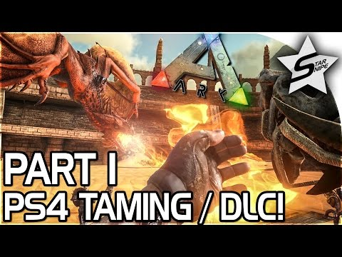 SCORCHED EARTH PS4 DLC, HOW TO TAME ON PS4 / TAMING! - ARK Survival Evolved PS4 PRO GAMEPLAY Part 1