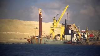 الشيخة حصة الصباح وراوية منصور فى قناة السويس الجديدة بعد عبور المعدية