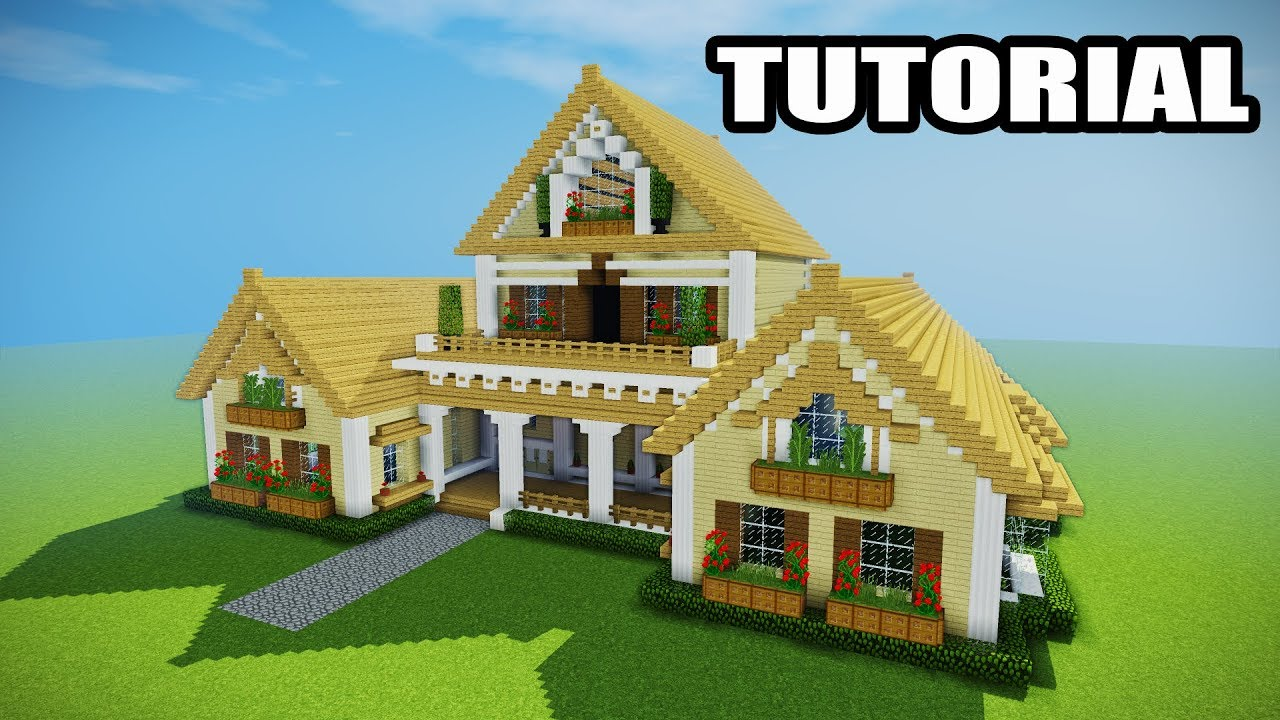 Minecraft how to build a mansion tutorial epic house for How to build my house
