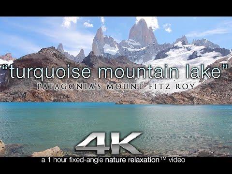 Patagonia 4K Scene: Turquoise Mountain Lake 1 HR Nature Relaxation™ Static Video Scene / Screensaver