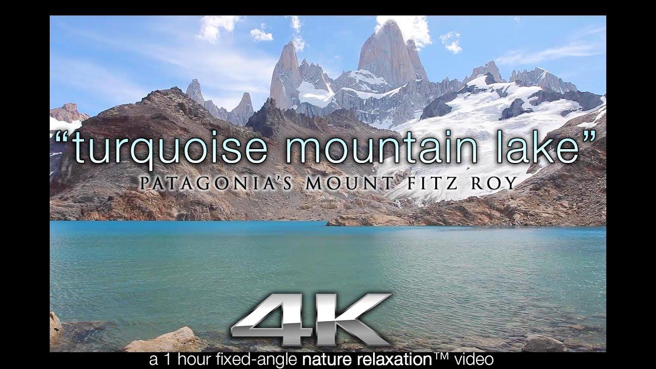 1 Hr Photo >> Patagonia 4k Scene Turquoise Mountain Lake 1 Hr Nature Relaxation Static Video Scene Screensaver