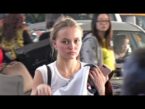 LilyRose Depp Looks AMAZING With No Makeup Leaving L.A. For Paris