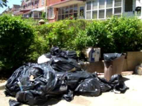 Apartment Garbage, 108 Street in Forest Hills, Queens, NYC
