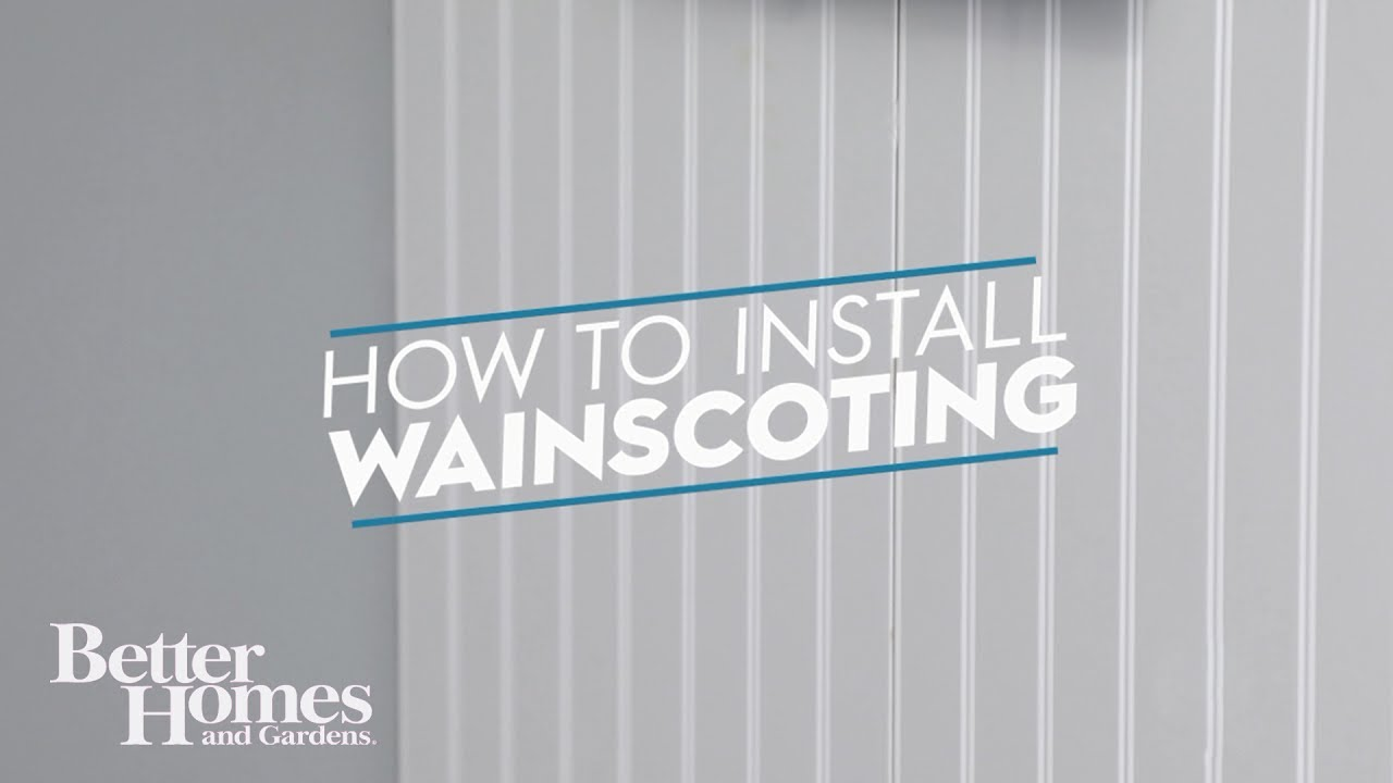 How to Install Wainscoting - YouTube How Do You Install Wainscoting on do it yourself wainscoting, how do you say wainscoting, how do you install fascia, how do you install crown molding, how install tongue and groove, how do you install stairs, how do you install stucco, how do you install siding, how tall should wainscoting be, how install beadboard wainscoting, how do you install wallpaper, how do you install shutters, how do you install windows, how do you install cabinets,
