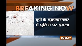 Heavy Stone Pelting on Police in Muzaffarnagar, when cops were trying to arrest alleged cow smuggler