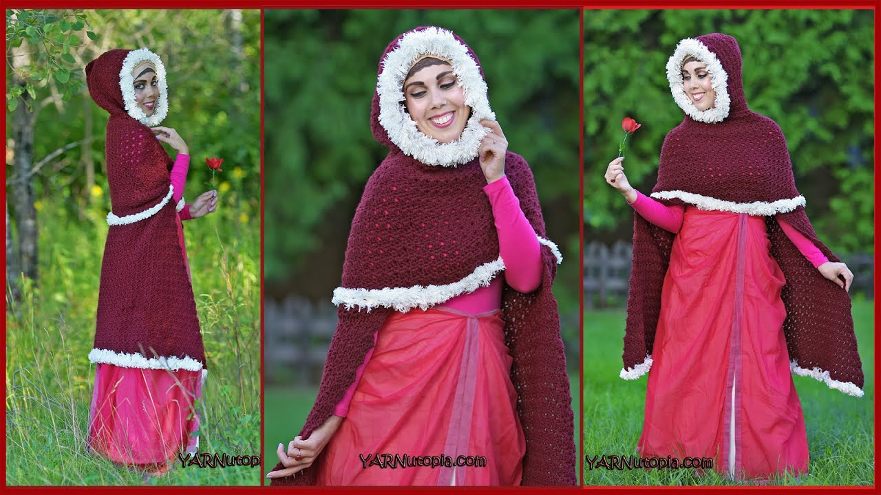 The enchanted rose cape crochet tutorial youtube bankloansurffo Choice Image