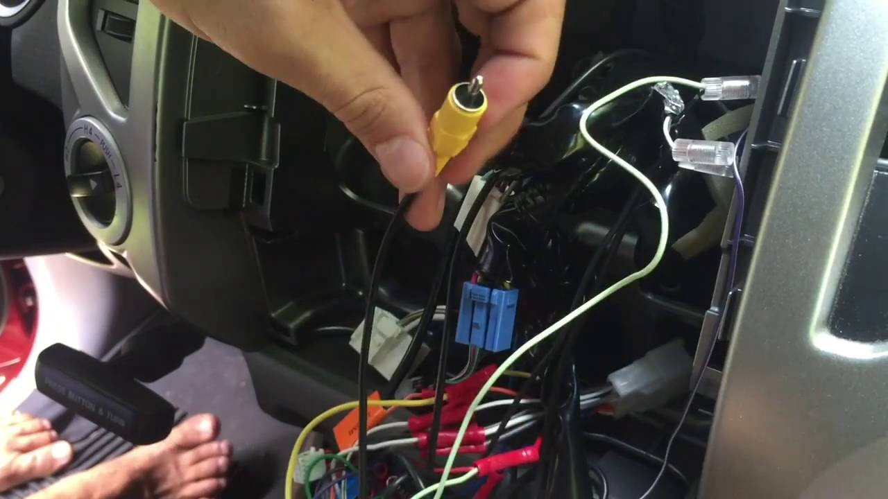 maxresdefault how to wire factory backup camera to aftermarket head unit backup camera wiring harness at virtualis.co