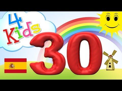 Aprender contar los números de 21 a 30 - para niños y bebés (español)