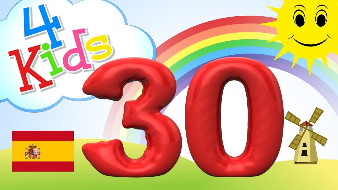 Aprender Contar Los Números De 21 A 30 Para Niños Y Bebés Español