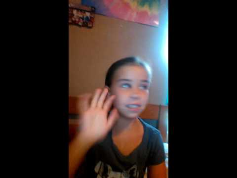 Hananah  trys  to sing