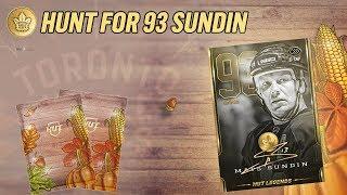 HUNT FOR 93 MATS SUNDIN! LEAFS ALUMNI PULL!  | NHL 19 HUT Pack Opening - Thanksgiving Packs