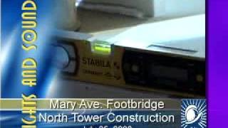 Cupertino Mary Avenue Pedestrian Footbridge Construction