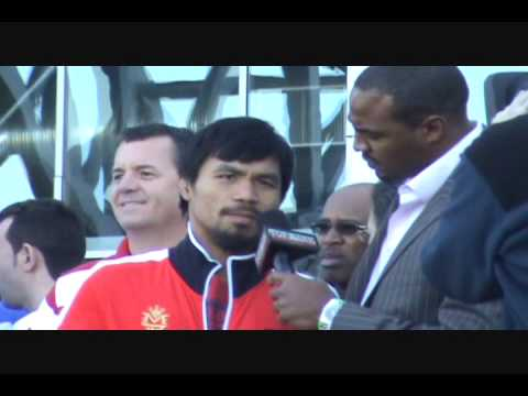 Darren Woodson interviews Pacquiao and Clottey