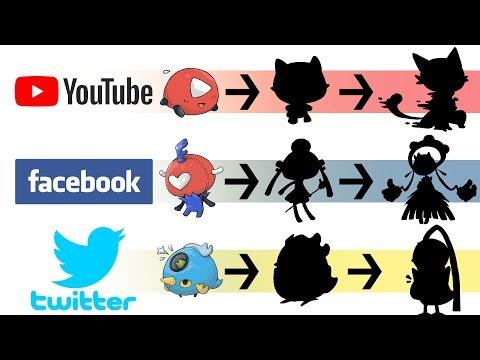 Youtube, Facebook & Twitter as Pokemon Evolution