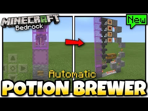 Minecraft  POTION BREWER  Automatic  Tutorial  MCPE  Xbox  Bedrock  Switch
