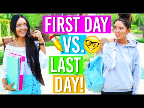 First Day Vs Last Day Of School: Back To School 2016! First Day Expectations for School!