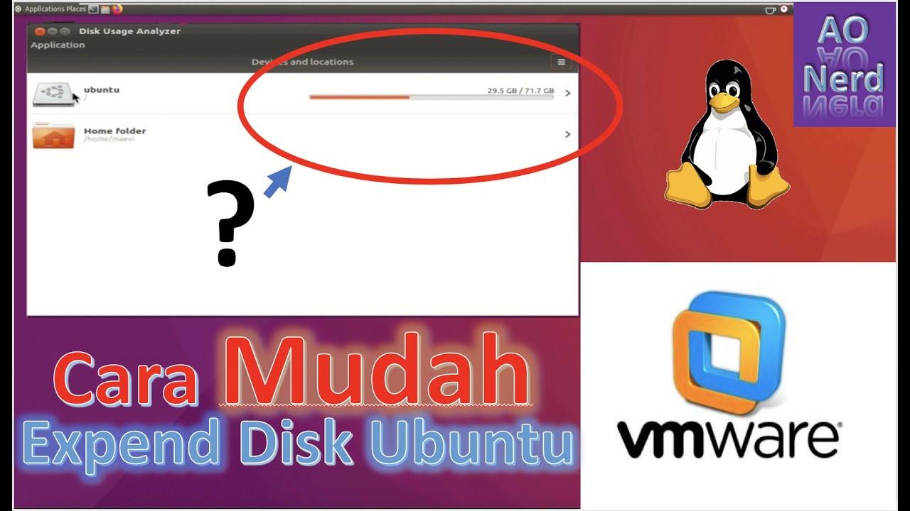 Expend Disk Space Linux Ubuntu VMware   BEGINNER - YouTube