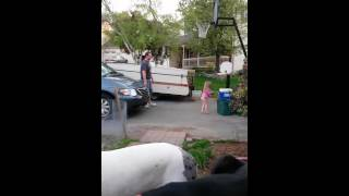 Potty training little girl gives Daddy a Surprise!