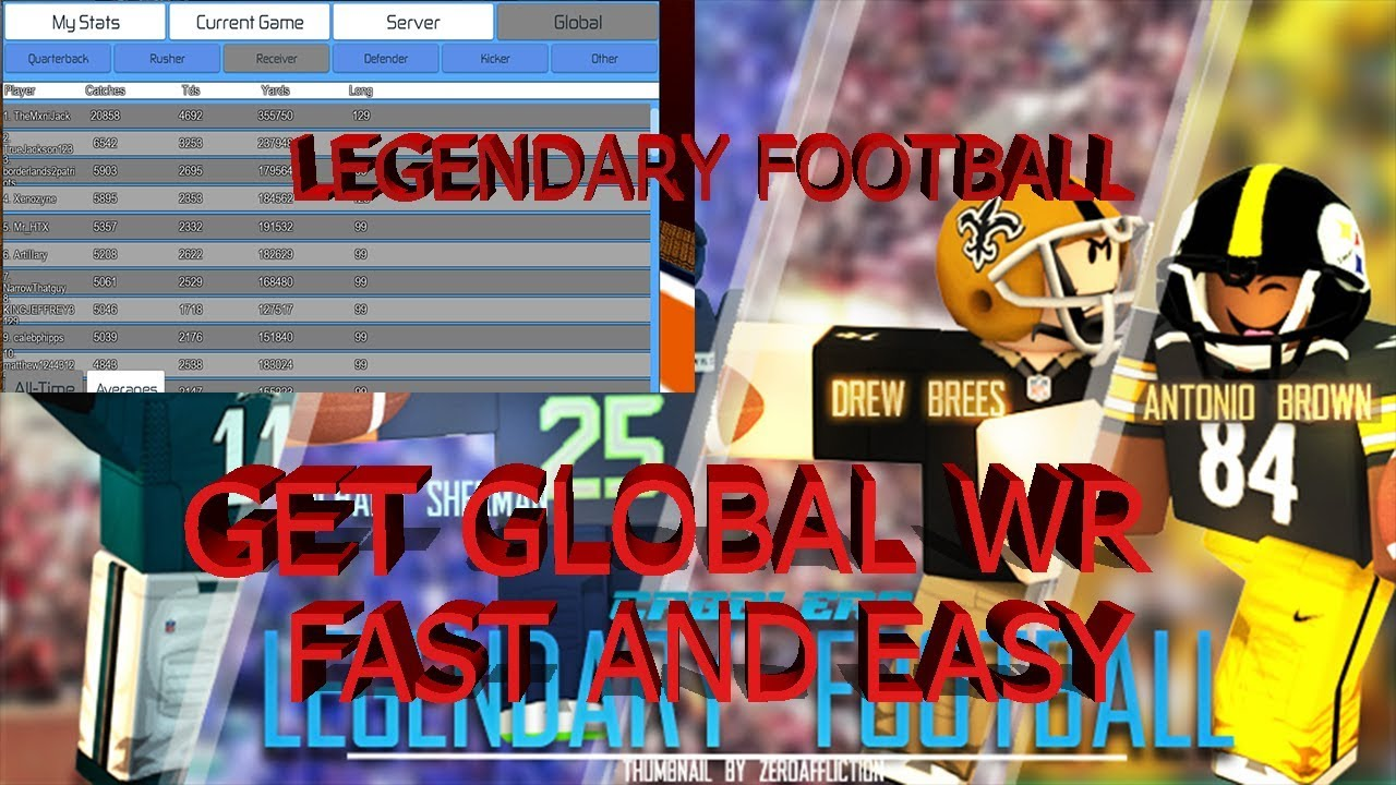 HACK FOR ROBLOX LEGENDARY FOOTBALL:HOW TO GET GLOBAL STATS IN A DAY!!!!!!!!!