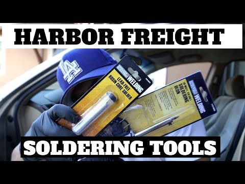 Wire Repair With Soldering Iron And Solder Harbor Freight Tools ($7)