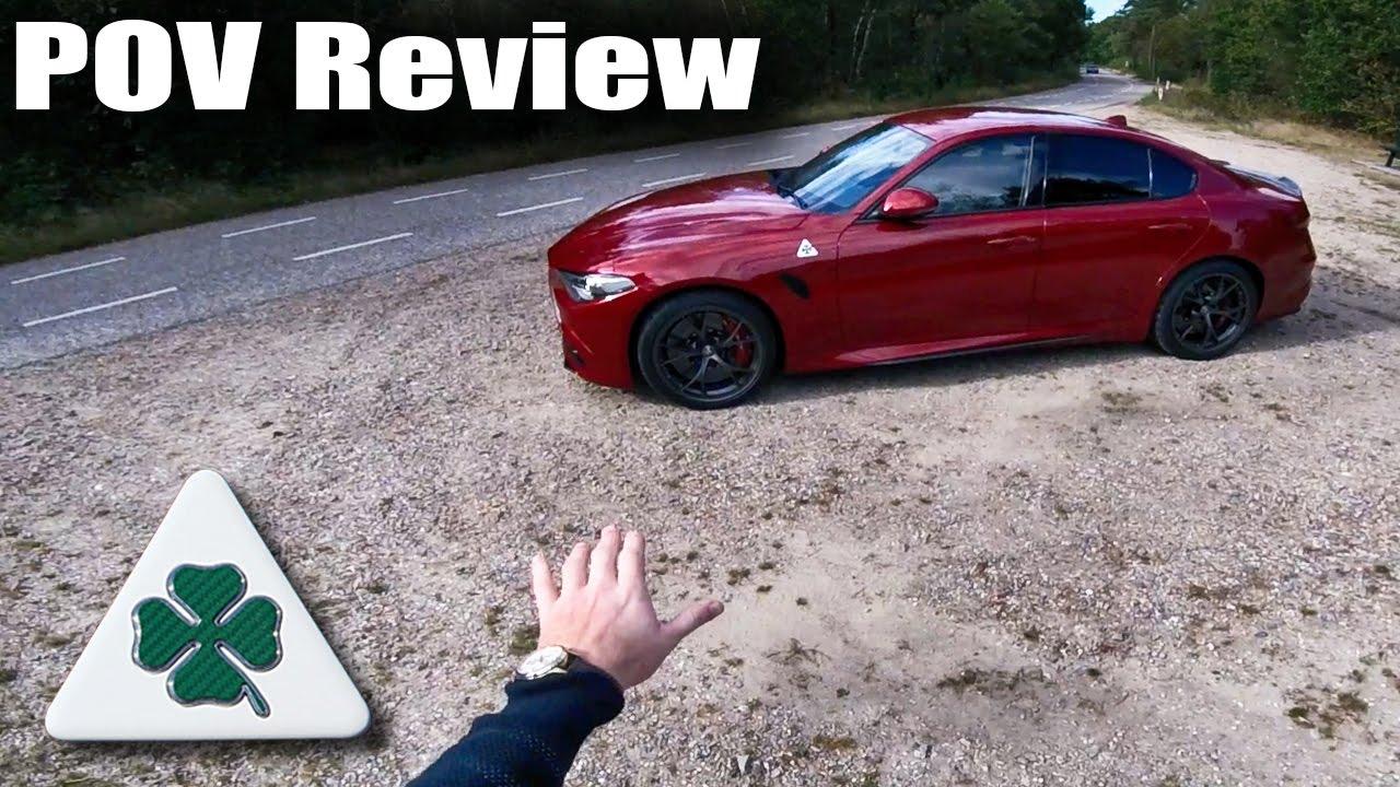 Alfa Romeo Giulia QV Quadrifoglio Review POV Test Drive