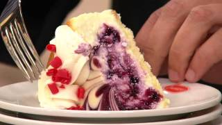 Junior's White Chocolate Blueberry Swirl Cheesecake With Dan Wheeler