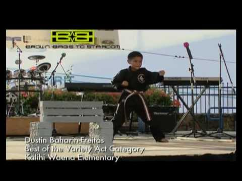 Dustin Bajarin-Freitas recipient of the Best of the Variety Acts - Kalihi Waena Elementary School