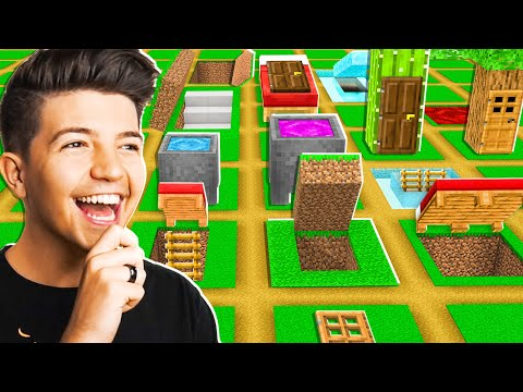 So I Gave 100 Players Creative Mode To Build Secret Houses... - Minecraft
