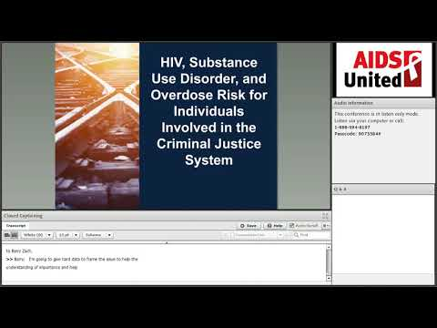 Re-Entry, HIV Linkage and Overdose Prevention Webinar