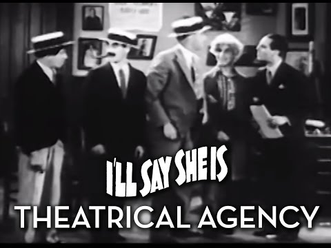 "The Marx Brothers' Theatrical Agency Scene From ""On the Mezzanine"" and ""I'll Say She Is"""