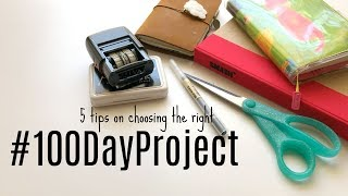 The 100 Day Project: 5 tips on finding a projects that works for you #the100DayProject