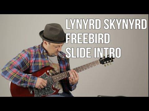 Freebird - Lynyrd Skynyrd Guitar Lesson- Opening Slide Guitar Intro