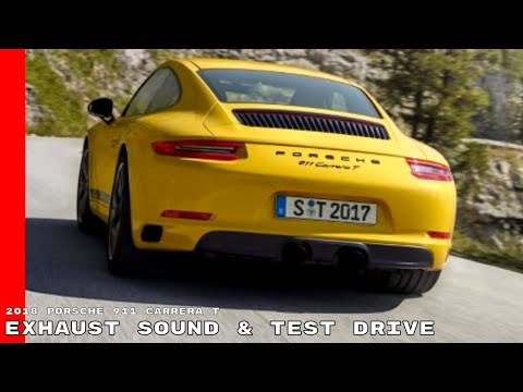 2018 Porsche 911 Carrera T Exhaust Sound & Test Drive