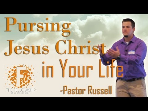 Pursing Christ in Your Life by Pastor Russell - 5/5/14 - The FellowshipSF